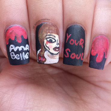 Annabelle nail art by Rose Mercedes