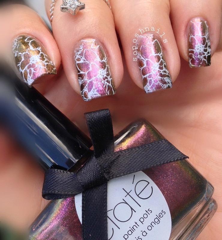Heirloom Flowers nail art by Debbie