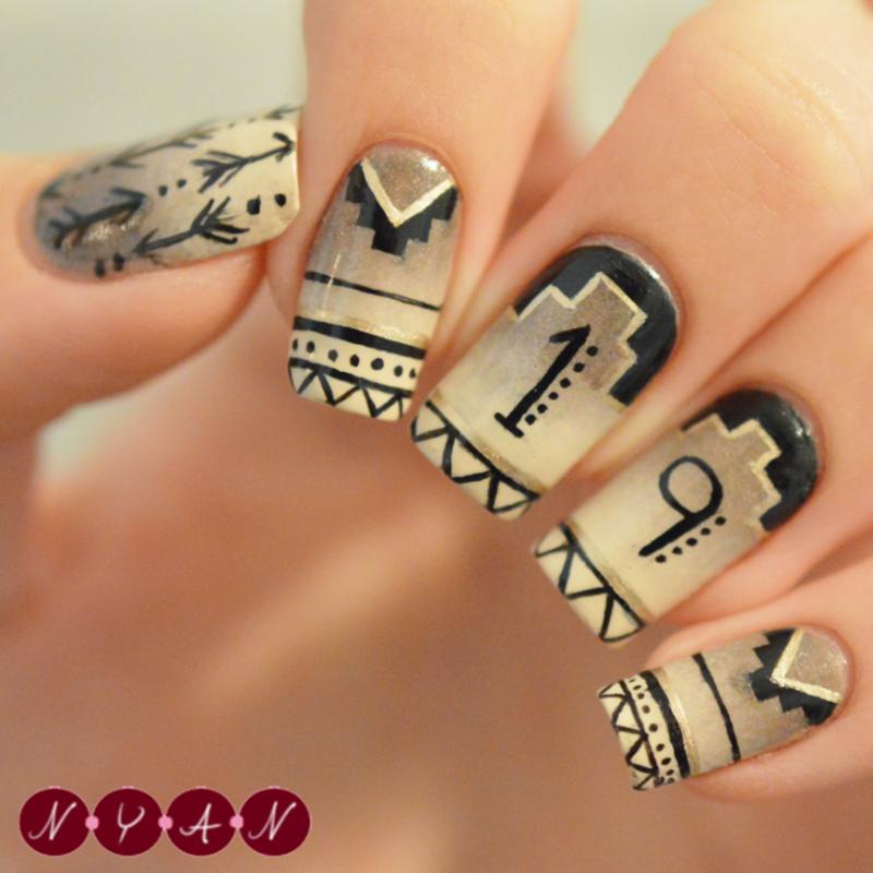 19 nail art by Becca (nyanails)