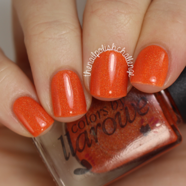 Colours by Llarowe Punkin' Swatch by Kelli Dobrin