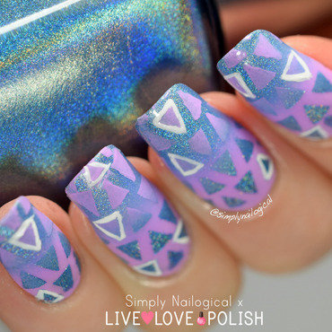 Triangle reciprocal gradient nail art by simplynailogical