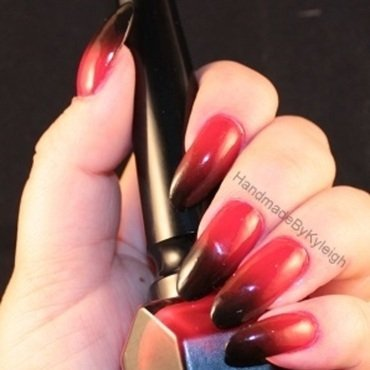 Rouge Louboutin nail art by  Kyleigh  'Handmade By Kyleigh'