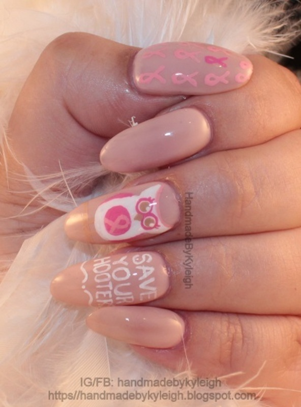 Save Your Hooters! nail art by  Kyleigh  'Handmade By Kyleigh'