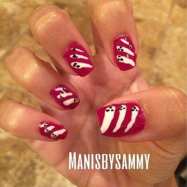 Ghosties nail art by Manisbysammy
