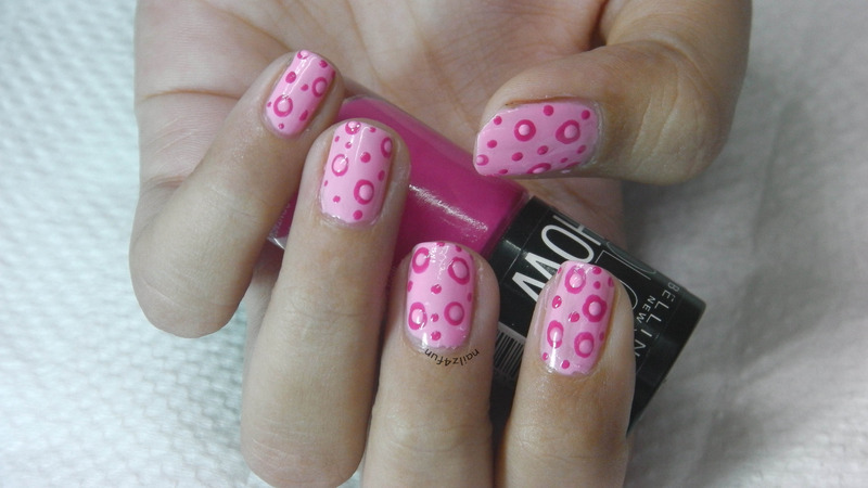 Think Pink for October nail art by Nailz4fun