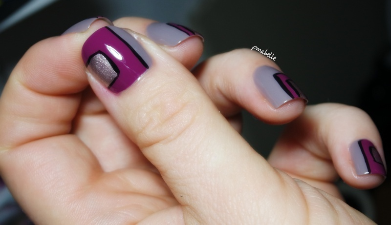 trio graphic nail art by Pmabelle