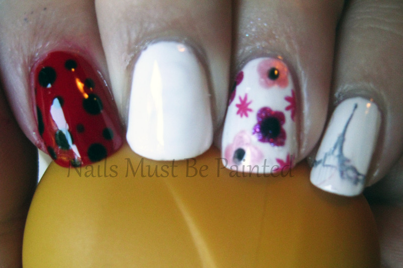 Ella Ladybird nail art by Emily