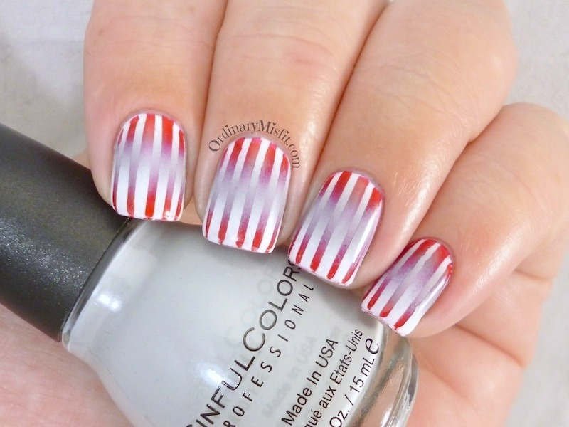 Reciprocal Gradient nail art by Michelle