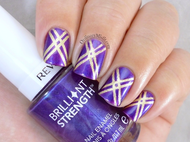 Stripes nail art by Michelle
