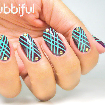Studs geometric pattern nails thumb370f