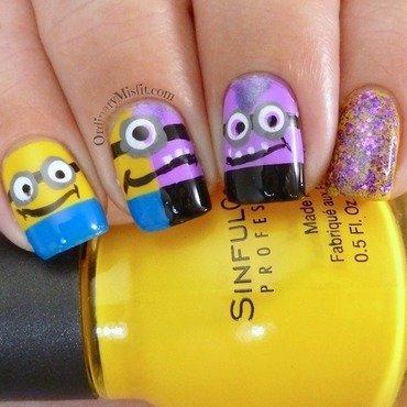 Despicable me 2 nail art nail art by Michelle