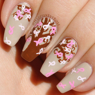 Think Pink Tree nail art by HappilyEver Rose