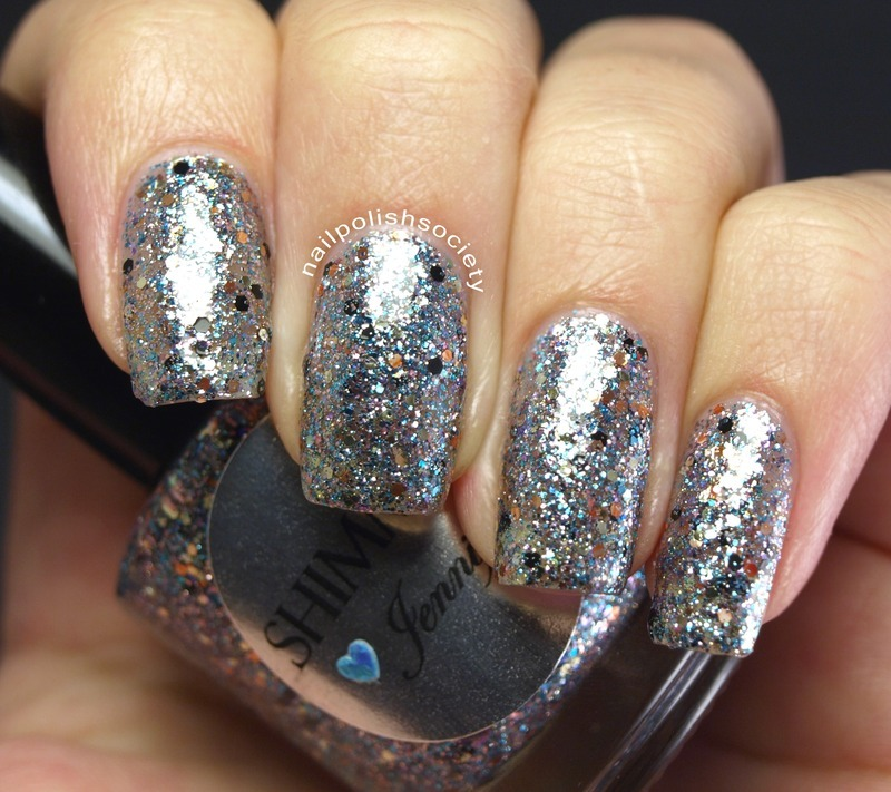 Shimmer Polish Jennifer Swatch by Emiline Harris