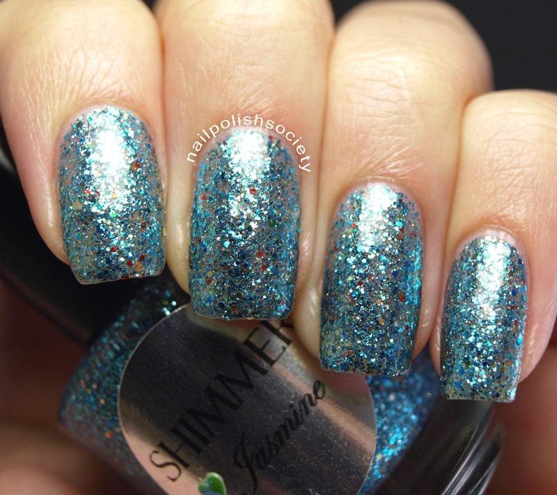 Shimmer Polish Jasmine Swatch by Emiline Harris