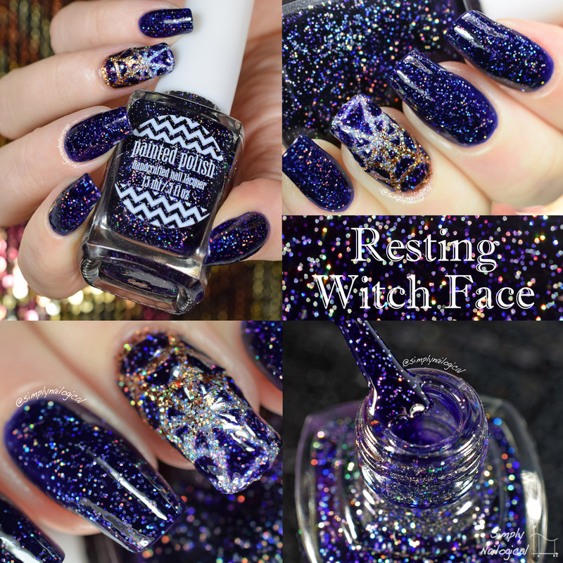Painted Polish Resting witch face Swatch by simplynailogical