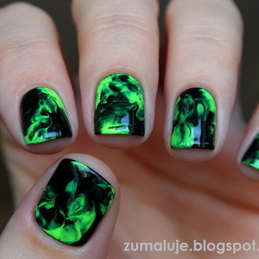 smoky nails nail art by Zu