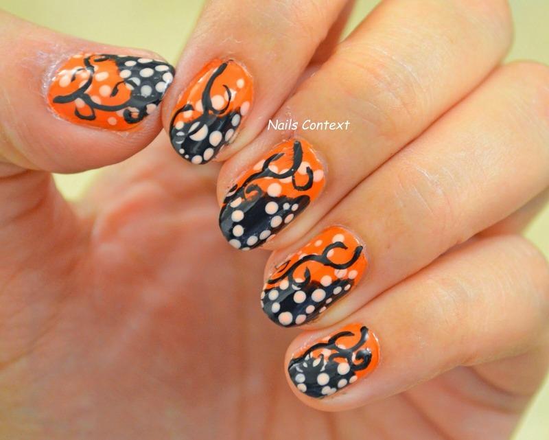 Halloween Swirls nail art by NailsContext