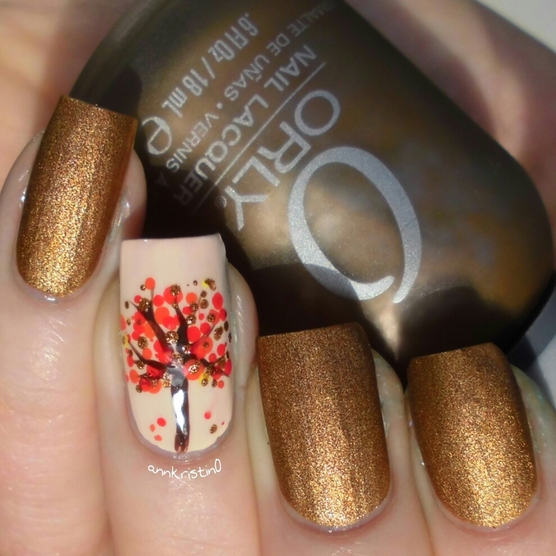 Autumn Tree nail art by Ann-Kristin - Nailpolis: Museum of Nail Art