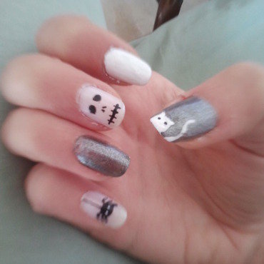 Halloween nail art by Bat-Chen