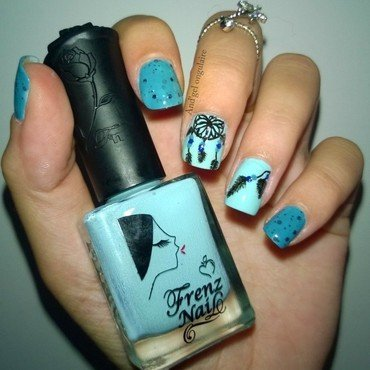 Dreamcatcher nail art by And'gel ongulaire