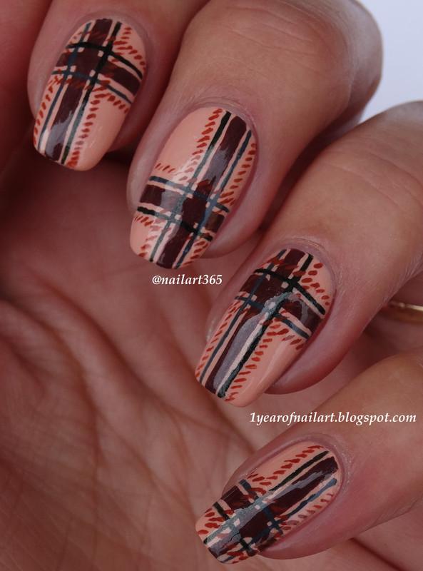 Tweed nails nail art by Margriet Sijperda