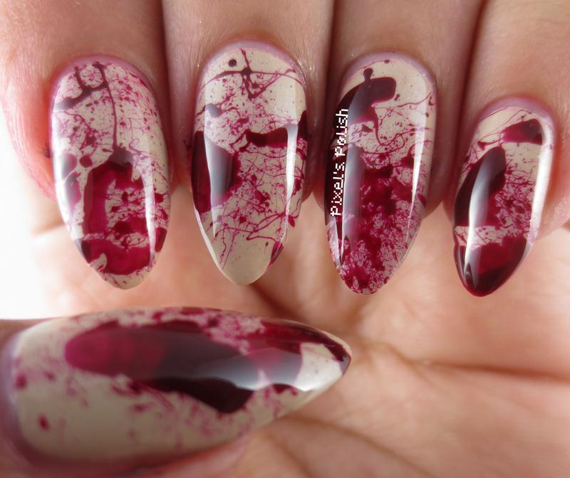Deadly Nails nail art by Pixel's Polish