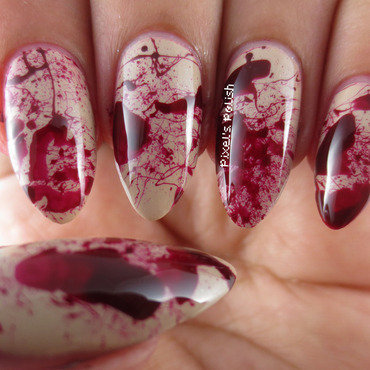 Deadly Nails nail art by Pixel's Polish