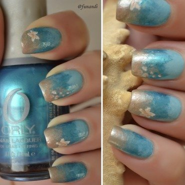 Underwater nails nail art by Andrea  Manases