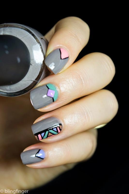 Pastel nail art by  Petra  - Blingfinger