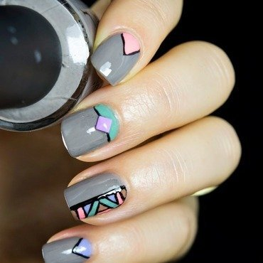 Pastel nail art by  Petra  - Blingfinger