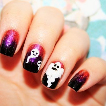 Ghost nail art by Jane