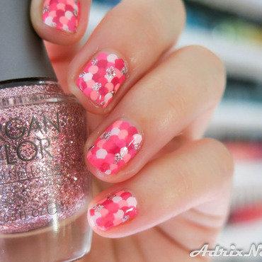 Pink October dots nail art nail art by Adriana Bojorquez