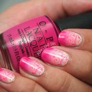 Pink October nail art by Kelsie