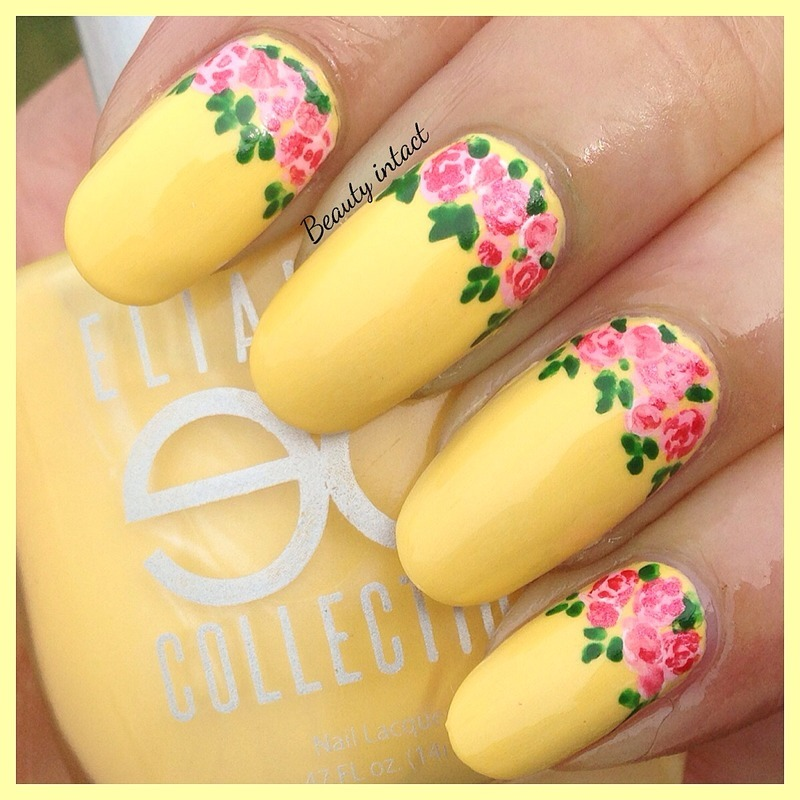 Banana Swirl nail art by Beauty Intact