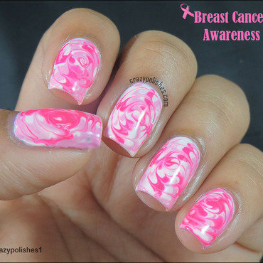 Pink Manicure for Breast Cancer Awareness nail art by CrazyPolishes (Dimpal)