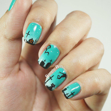 Graveyard, Too nail art by Rina Alcantara