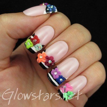 Digital dozen striped french and 3d acrylic flowers 1 thumb370f
