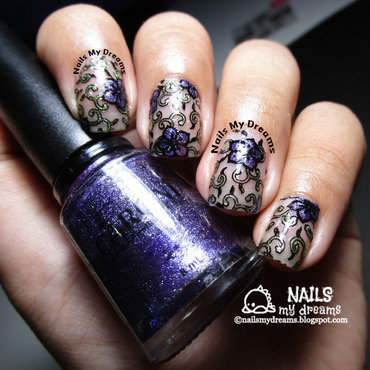 Stained Glass Nails?... nail art by Kat of NailsMyDreams