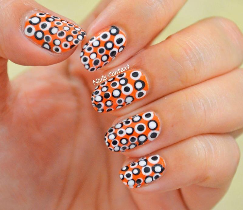 Halloweeny Dots nail art by NailsContext