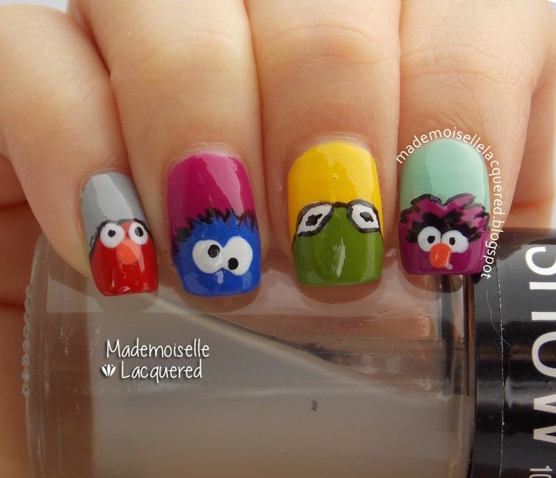 Muppets Nails nail art by Emilia