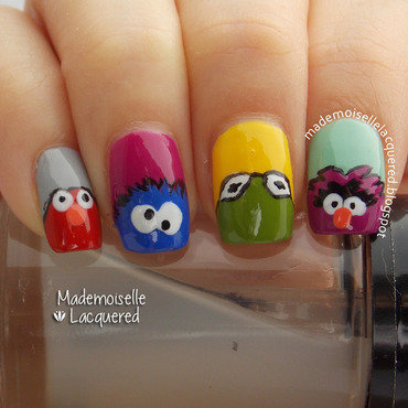 Muppets Nails nail art by Emilia