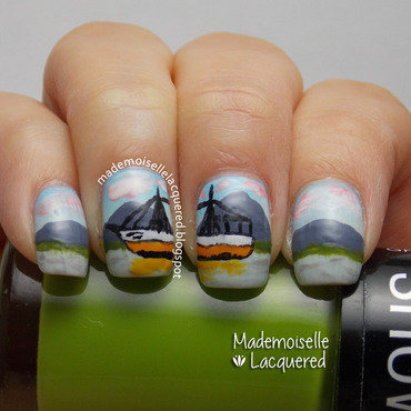 Florianopolis landscape Nails nail art by Emilia