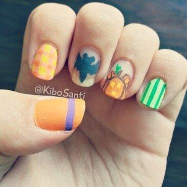 October challenge day 9 Disney  nail art by KiboSanti