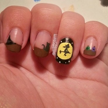 October challenge day 14 Witch  nail art by KiboSanti