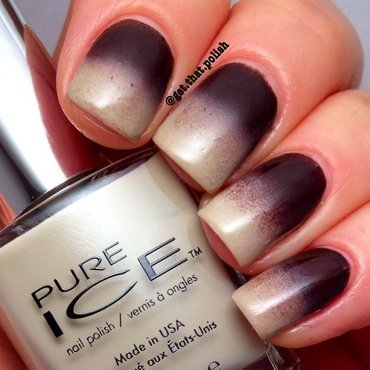 Fall Gradient nail art by Luciana