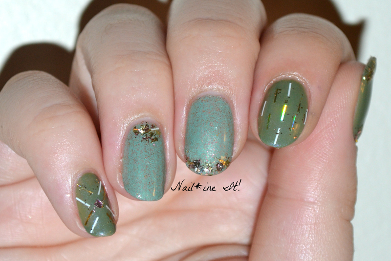 Prima Donna's Glitter Placement nail art by Christine of Nail*ine It!