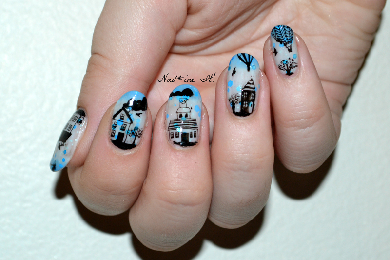 Little town landscape nails nail art by christine of nailine it little town landscape nails nail art by christine of nailine it prinsesfo Choice Image