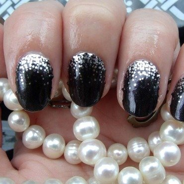 Midnight Celebration nail art by Toria Mason