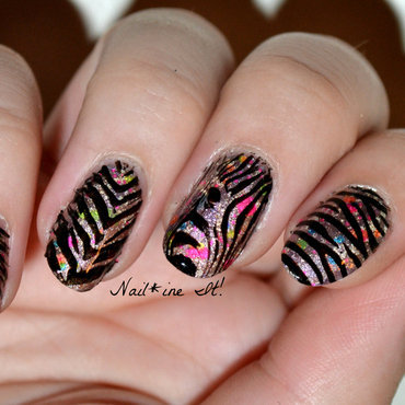 Zebras be Clowning Around nail art by Christine of Nail*ine It!