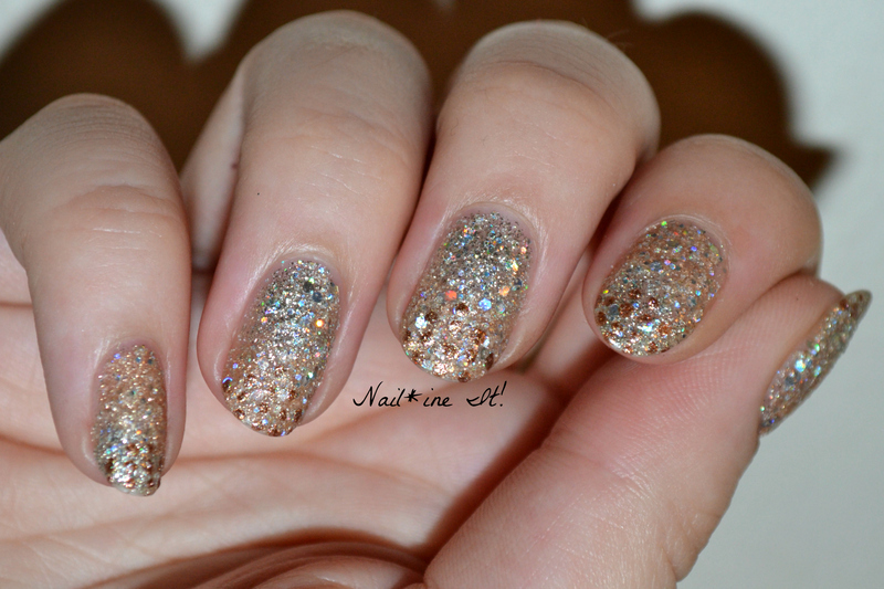 French Dotticure over Subtle Gradient nail art by Christine of Nail*ine It!